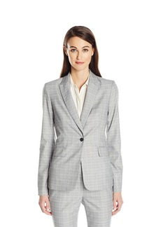 Calvin Klein Women's 1 Button Menswear Jacket