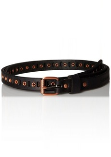 Calvin Klein Women's 15mm Matte Leather Belt with Perforation and Eyelets