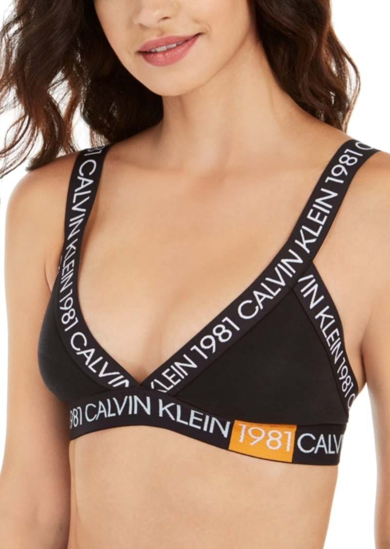 Calvin Klein Women's 1981 Bold Unlined Triangle Bralette QF5447
