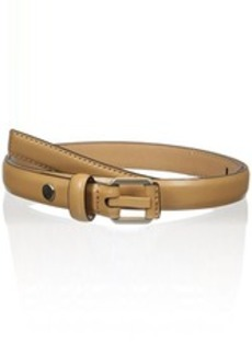 Calvin Klein Women's 20mm Feather Edge Belt with Powder Coated Prong and Leather Nose Wrap