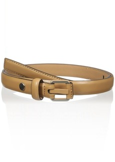 Calvin Klein Women's 20mm Feather Edge Belt with Prong and Leather Nose Wrap