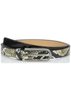 Calvin Klein Women's 20mm Genuine Snake and Patent Belt