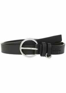Calvin Klein Women's 25mm Flat Strap with Loop Ring Detail black L