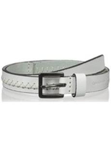 Calvin Klein Women's 25mm Pieced Flat Strap with Hand Stitch Belt