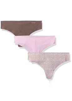 Calvin Klein Women's 3 Pack Invisibles Thong Panty