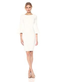 Calvin Klein Women's 3/ Peplum Sleeve Sheath Dress