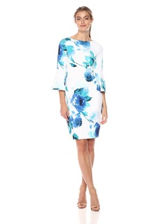 Calvin Klein Women's 3/ Peplum Sleeve Sheath Dress