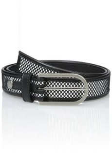 Calvin Klein Women's 32Mm Mesh and Smooth Leather Belt