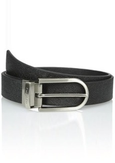 Calvin Klein Women's 32mm Reversible Textured Leather To Smooth Belt
