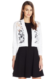 Calvin Klein Women's 3/4 Sleeve Shrug with Lace Front  XL