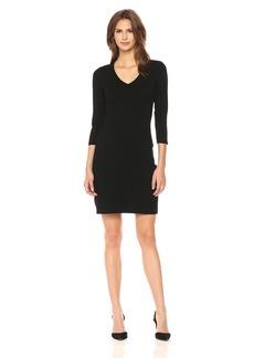 Calvin Klein Women's V-Neck Sweater Dress With Hot Fix Detail  M