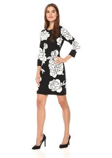 Calvin Klein Women's 3/4 Sleeves Sweater Dress  L