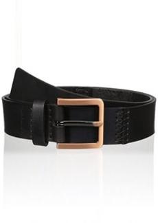 Calvin Klein Women's 38mm Pieced Flat Strap with Hand Stitch Belt