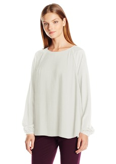 Calvin Klein Women's All Over Pleated Top  Large