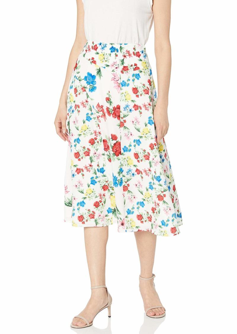 Calvin Klein Women's Angle Hem Printed Skirt