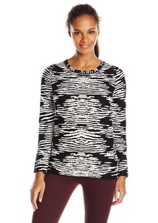 Calvin Klein Women's Animal Print Sweater  X-Large