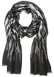 Calvin Klein Women's Animal Printed Pashmina Scarf -black
