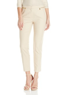 Calvin Klein Women's Ankle Length Slim Fit Pant with Zipper Pockets  10