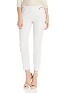 Calvin Klein Women's Ankle Pant with Zips
