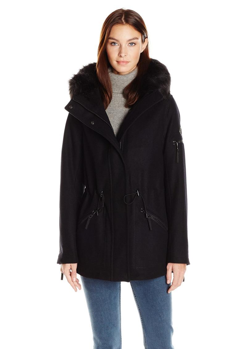 fb06d9d48 Calvin Klein Calvin Klein Women's Anorak Wool Faux Fur Trimmed Coat S