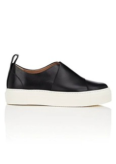 Calvin Klein Women's Ariel Leather Platform Sneakers