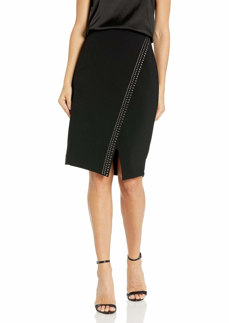 Calvin Klein Women's Asymmetric Studded Skirt
