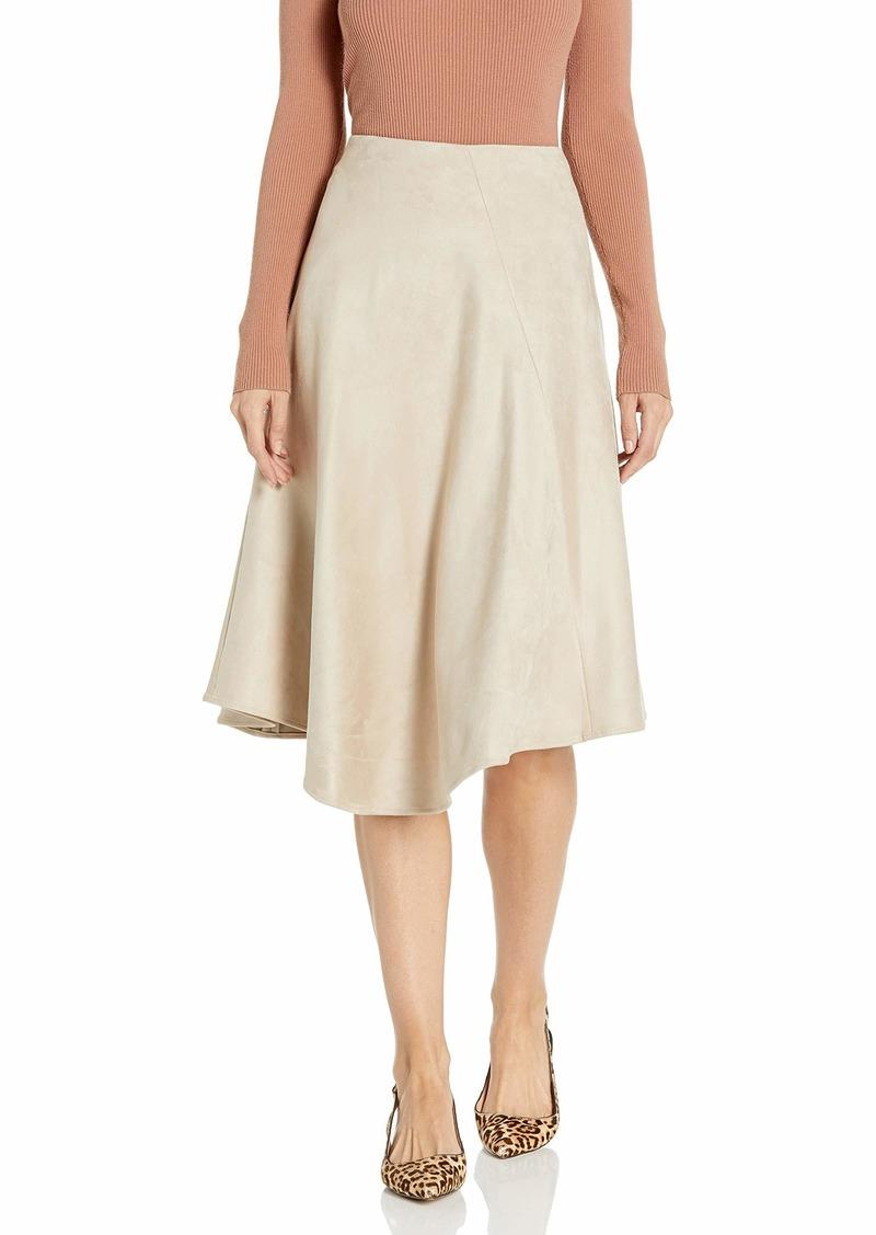 Calvin Klein Women's Asymmetrical Hem Boot Skirt