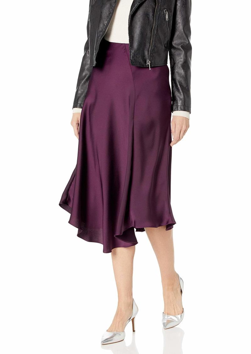 Calvin Klein Women's Asymmetrical Hem Boot Skirt aubergine