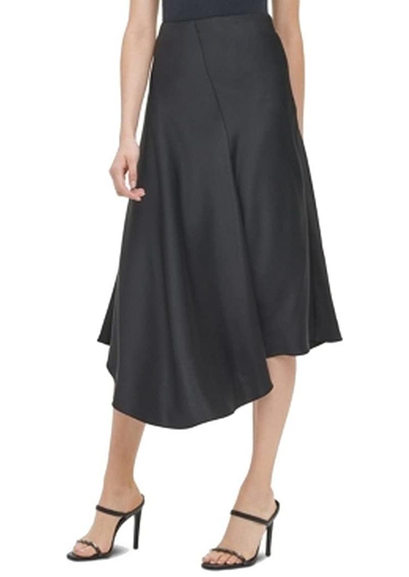 Calvin Klein Women's Asymmetrical Hem Boot Skirt black