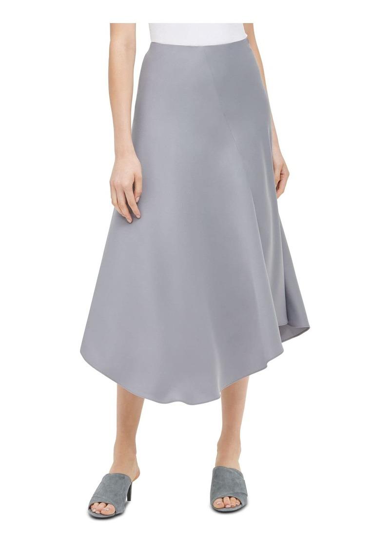 Calvin Klein Women's Asymmetrical Hem Boot Skirt tin