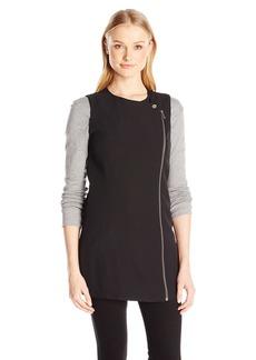 Calvin Klein Women's Asymmetrical Zip Vest