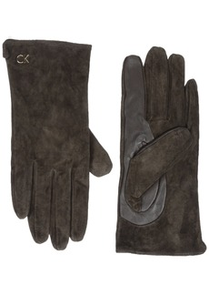 Calvin Klein Women's Basic Suede/ Leather Glove Accessory