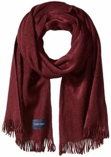 Calvin Klein Women's Basic Warp Knit Scarf dark cranberry O/S