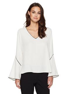 Calvin Klein Women's Bell Sleeve Blouse  M
