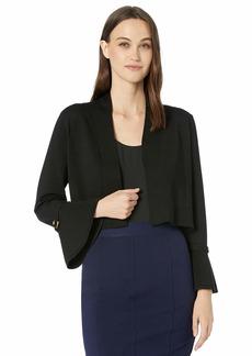 Calvin Klein Women's Bell Sleeve Shrug with Gold Hardware Detail