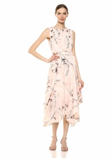 Calvin Klein Women's Belted Handkerchief Dress