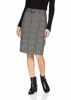 Calvin Klein Women's Belted Pencil Skirt