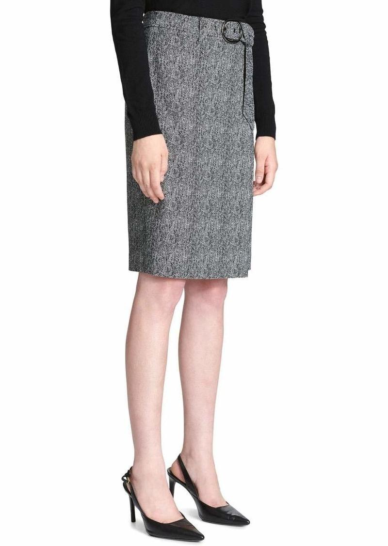 Calvin Klein Women's Belted Pencil Skirt