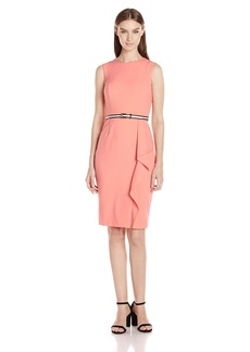 Calvin Klein Women's Belted Sheath Dress