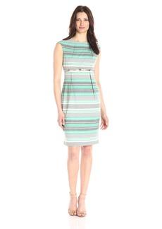 Calvin Klein Women's Belted Striped Sheath Dress