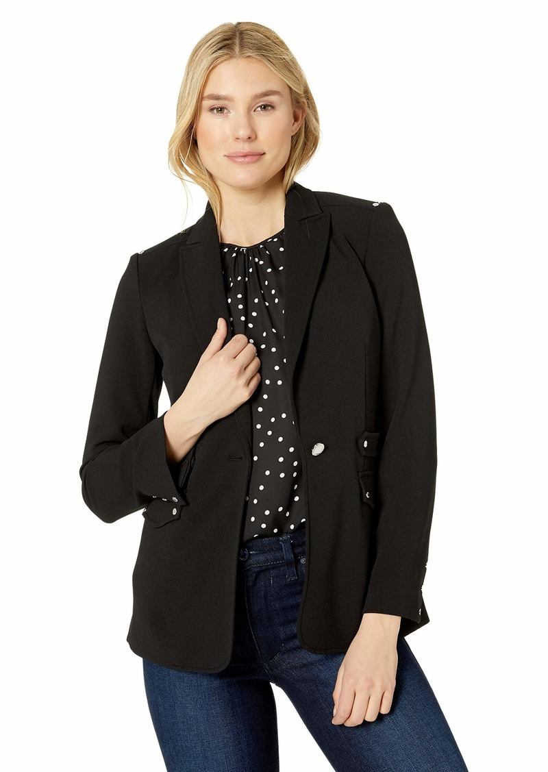 Calvin Klein Women's Blazer with Silver Hardware