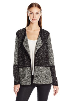 Calvin Klein Women's Blocked Cardigan Sweater  XL