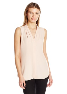Calvin Klein Women's Blouse with Inverted Pleat  XL