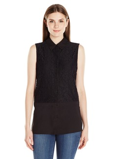 Calvin Klein Women's Blouse with Mosaic Lace