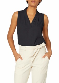 Calvin Klein Women's Blouse W/Inverted Pleat  S