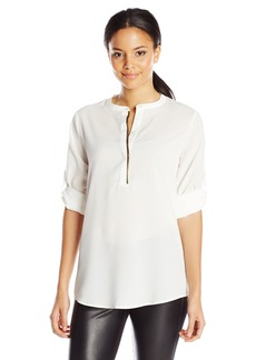Calvin Klein Women's Blouse with Metallic Trim