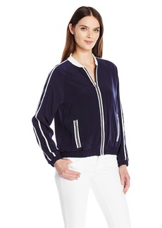 Calvin Klein Women's Bomber Jacket with Ribbed Collar  XS