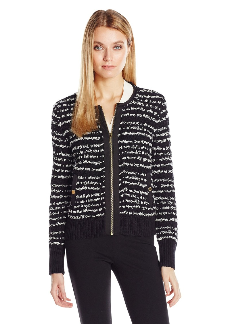 Calvin Klein Women's Bomber Sweater Jacket  XL