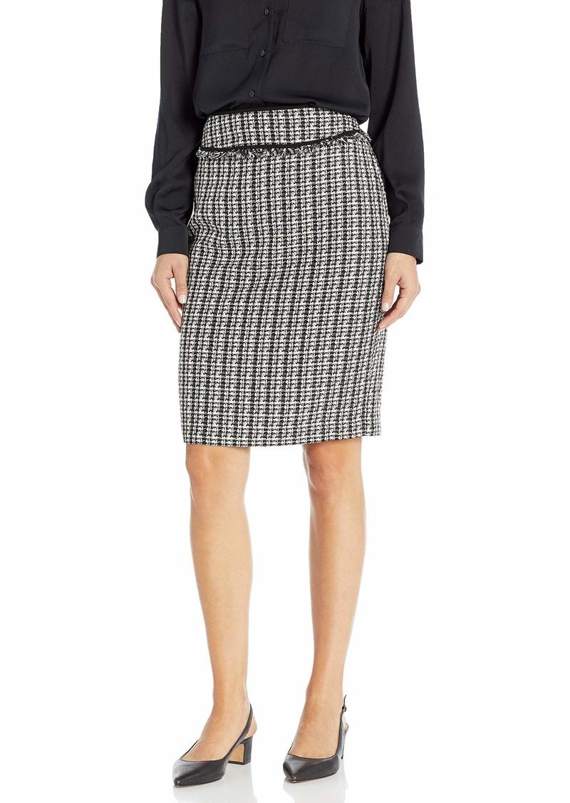 Calvin Klein Women's Boucle Piped Skirt