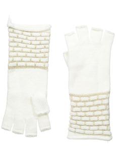 Calvin Klein Women's Brick Stitch Fingerless Gloves  One Size